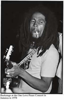 Bob Marley at backstage