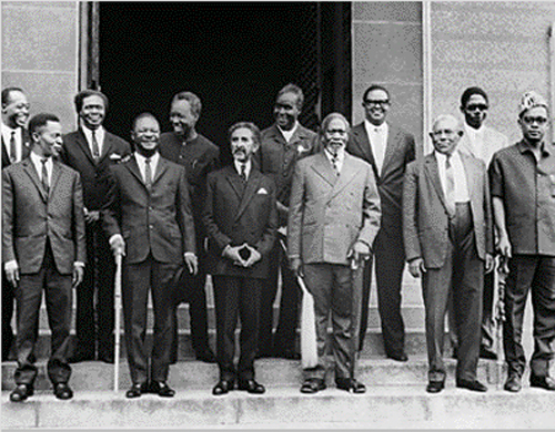 Haile Selassie with African leaders