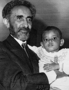 Selassie with child